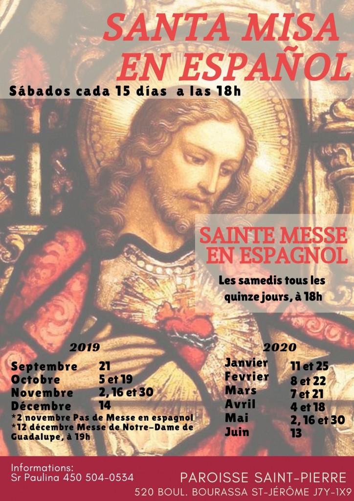 Messe en espagnol 2019 - 2020