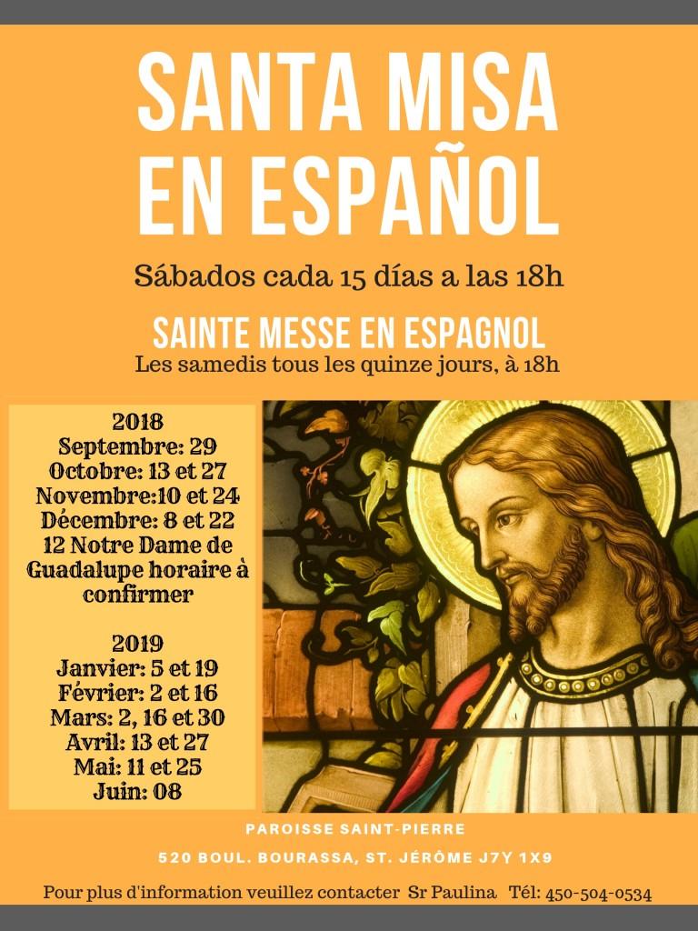 sainte messe en espagnol
